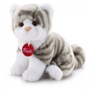 Trudi Knuffel Kitten Brad wit/grijs 24 Cm