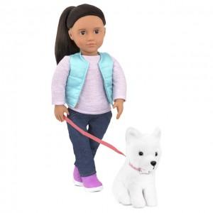 Our Generation Cassie met hond