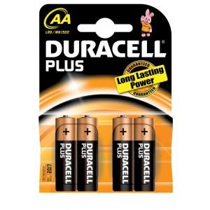 Duracell Plus AA batterij LR06 blister van 4 stuks