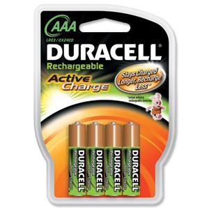 Duracell Rechargeable Active Charge oplaadbare AAA batterij LR03 blister van 4 stuks