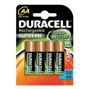Duracell Supreme oplaadbare AA batterij LR06 blister van 4 stuks