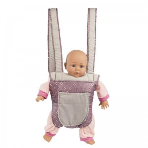 Mini Mommy Poppendraagzak Paars 26cm